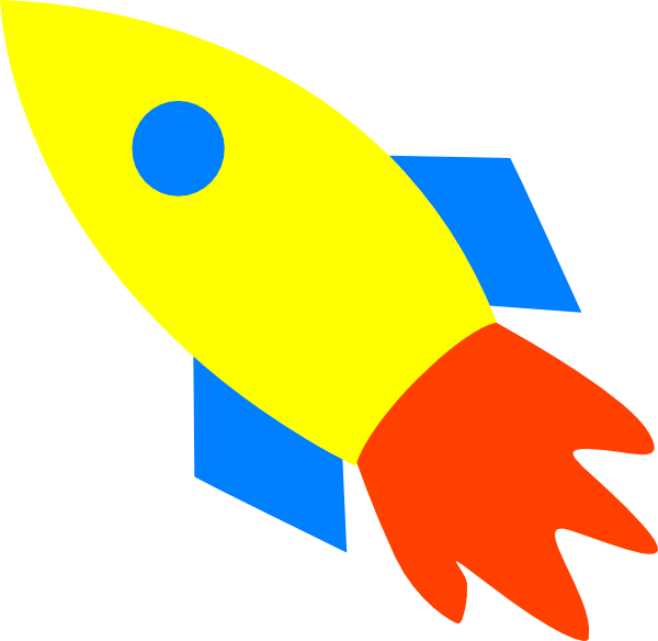 Clipart rocket yellow rocket. Ship clip art at