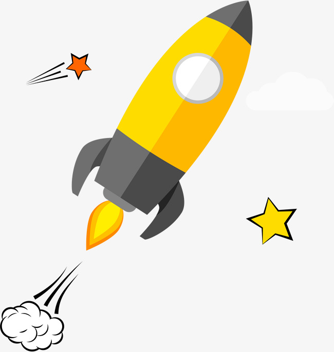 Download asymmetric digital . Clipart rocket yellow rocket