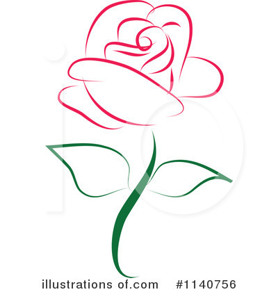 Illustration by vitmary rodriguez. Clipart rose
