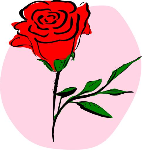 Clipart rose. Free public domain flower