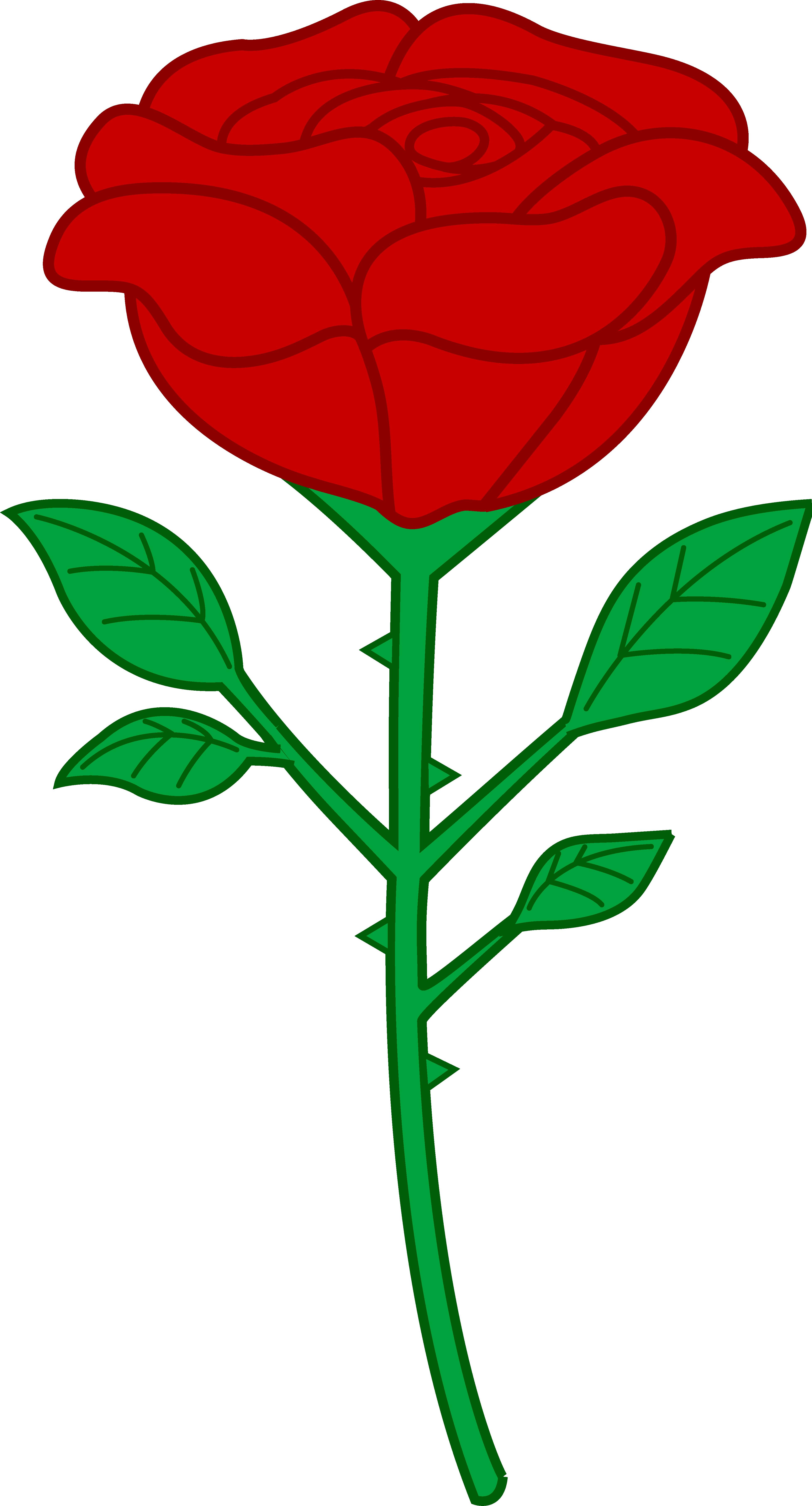 Cartoon roses . Clipart rose