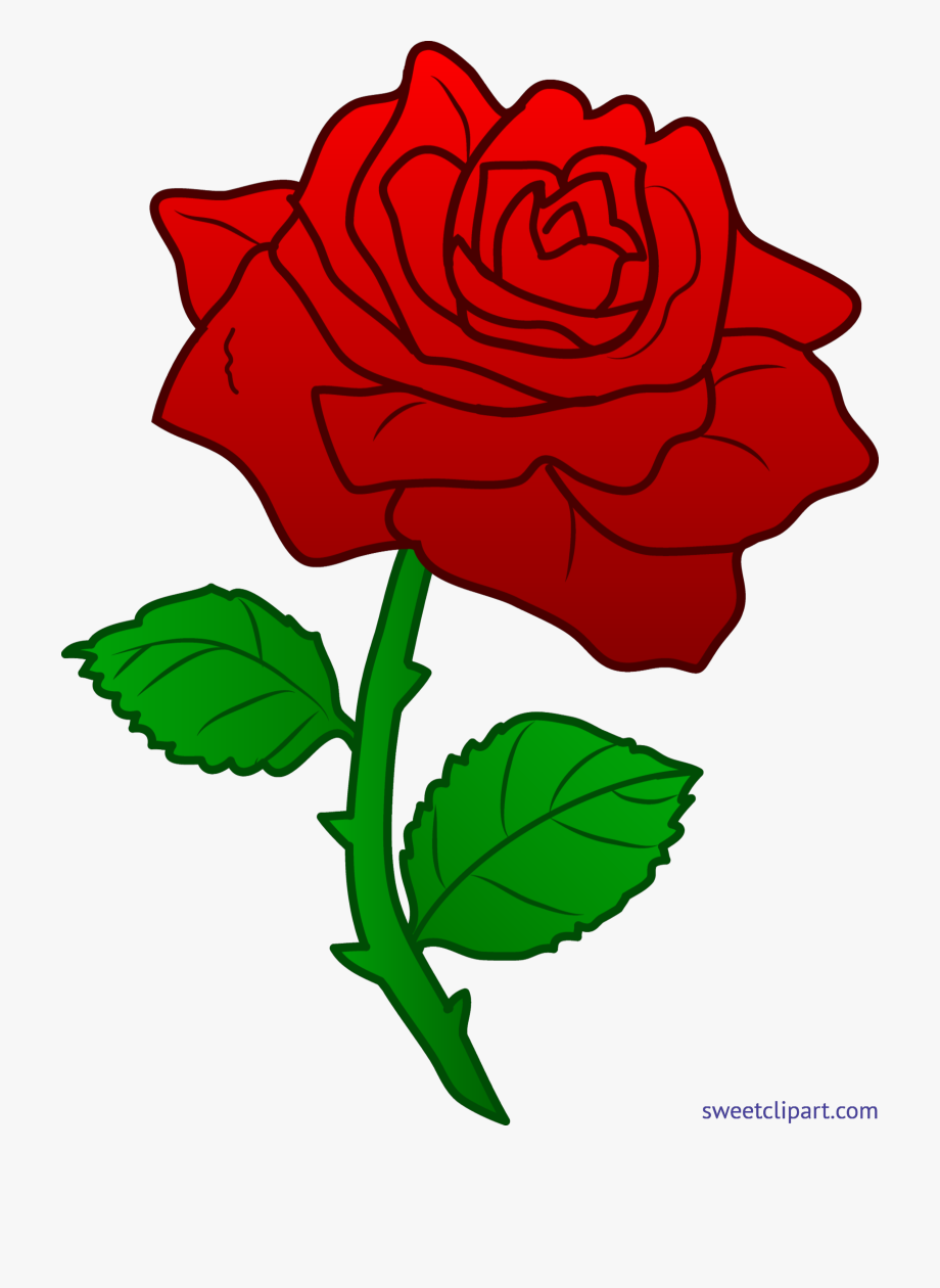 Rose red clip art. Clipart roses