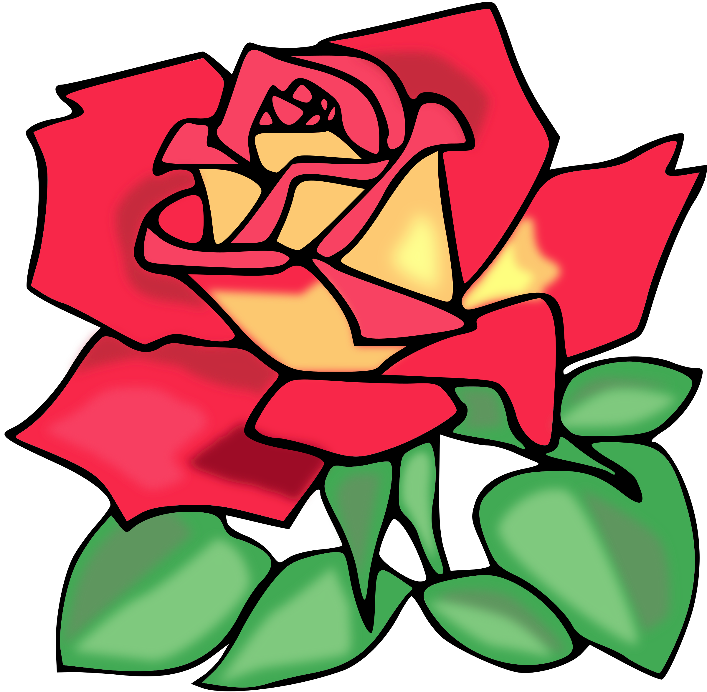 Rose clipart animated. Red big image png