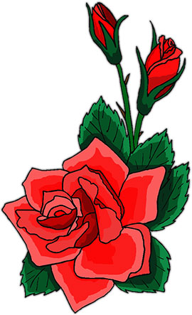 Free rose . Clipart roses animated