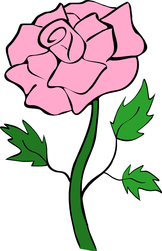 Vines clipart animated. Roses pink rose clip