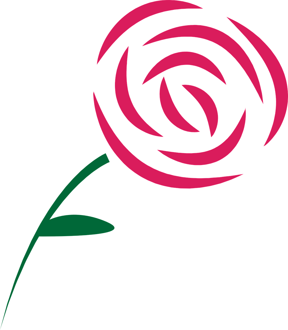 Simple drawing at getdrawings. Clipart roses easy