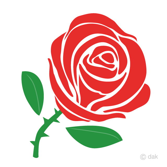 Simple red free picture. Clipart rose basic
