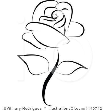 Rose free download best. Clipart roses simple