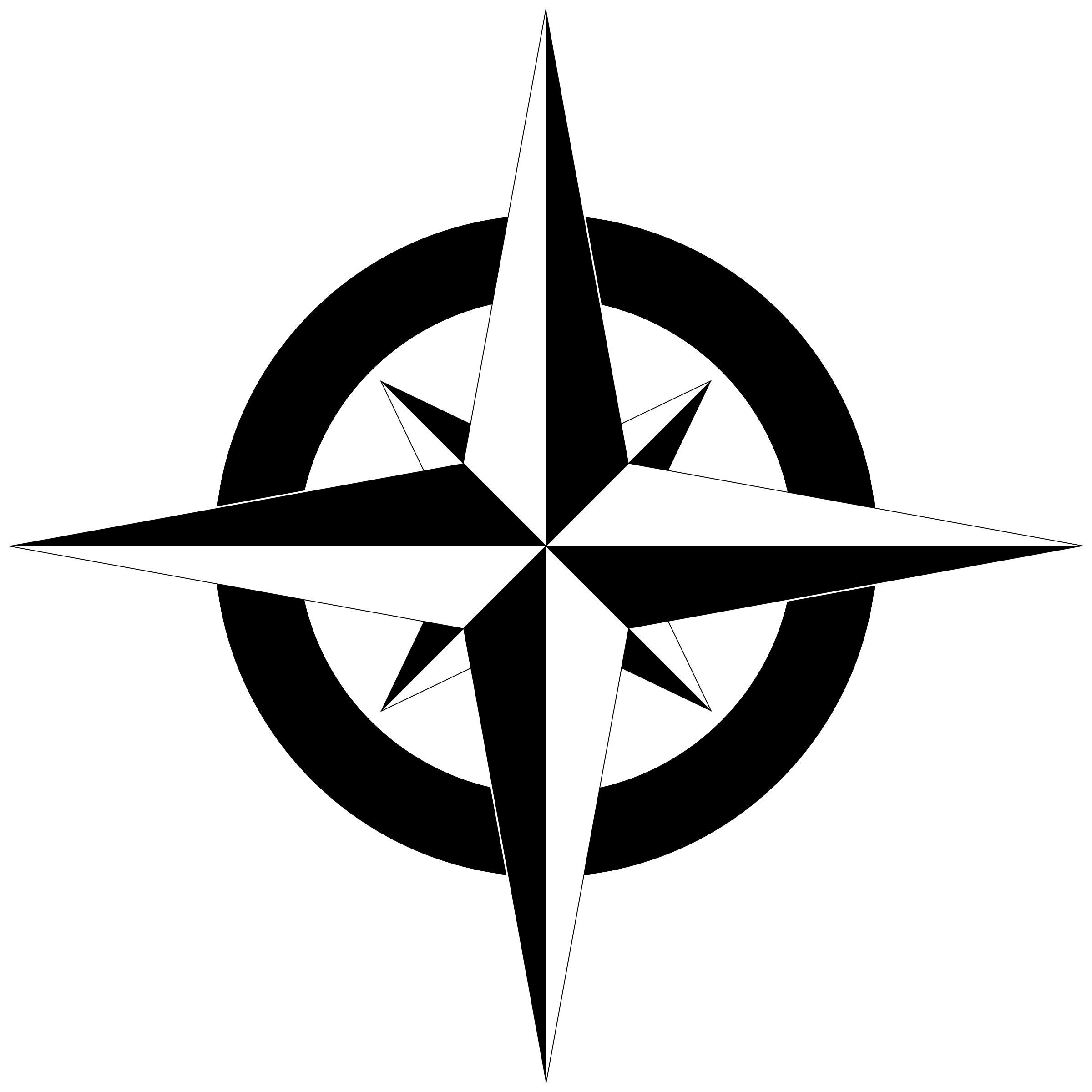 Png black and white. Compass clipart compass rose