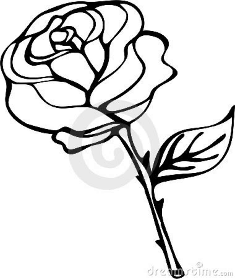 Clipart rose black and white. Free drawings download clip