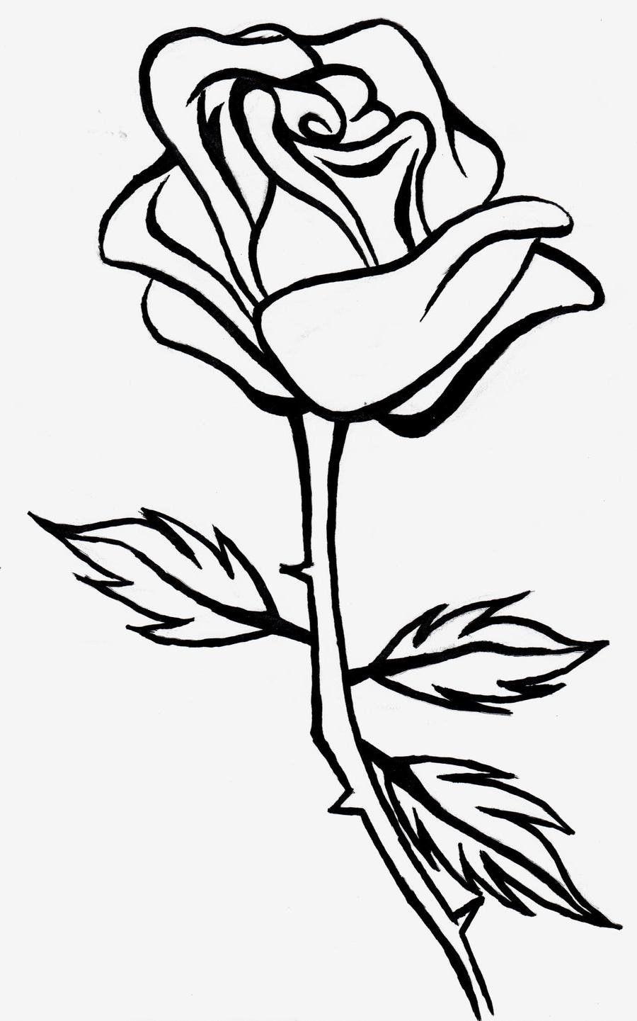 Free download clipartpost . Clipart rose black and white