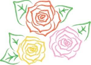 Clipart roses bloom. Rose designs weather