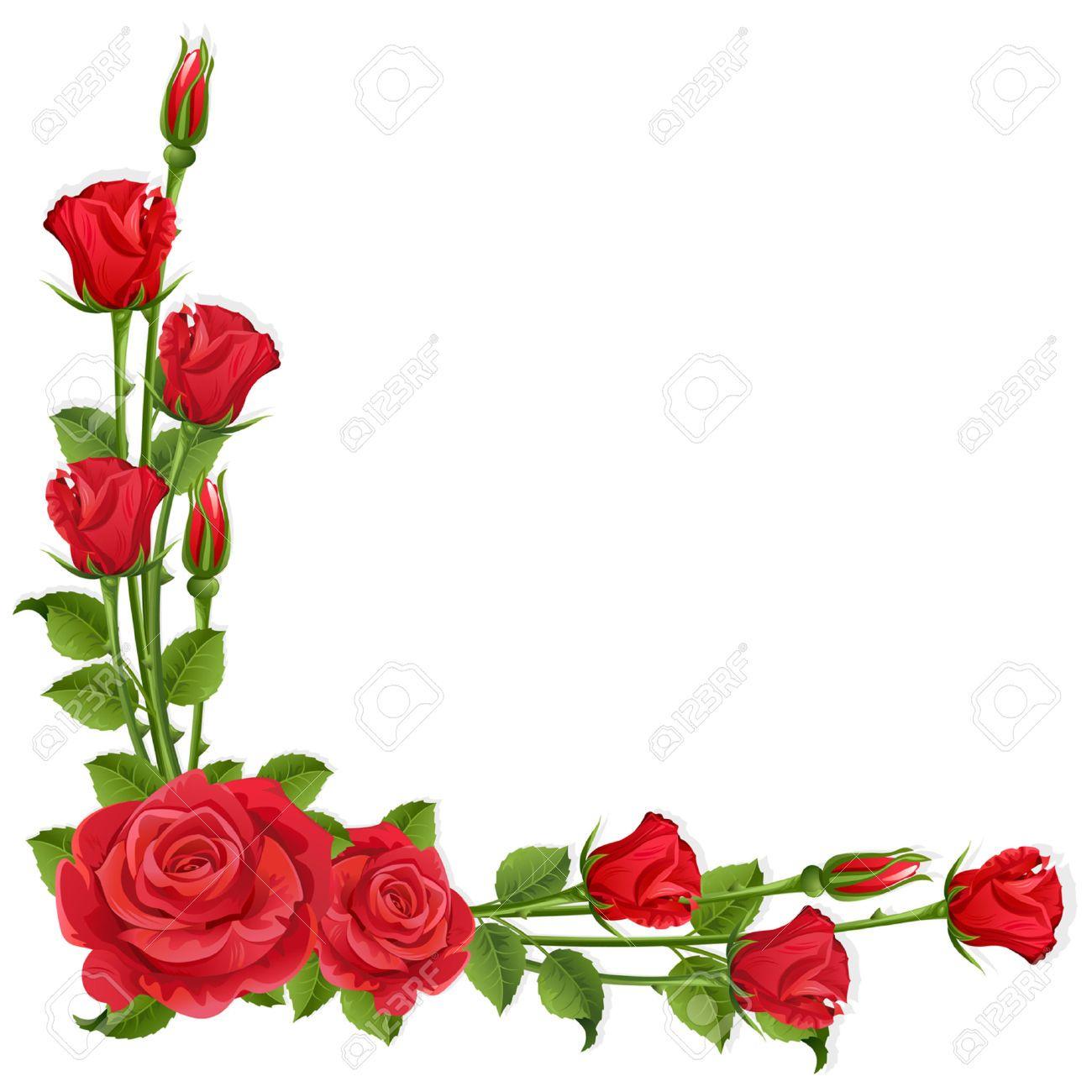 Clipart roses borders. Stock vector oklev l