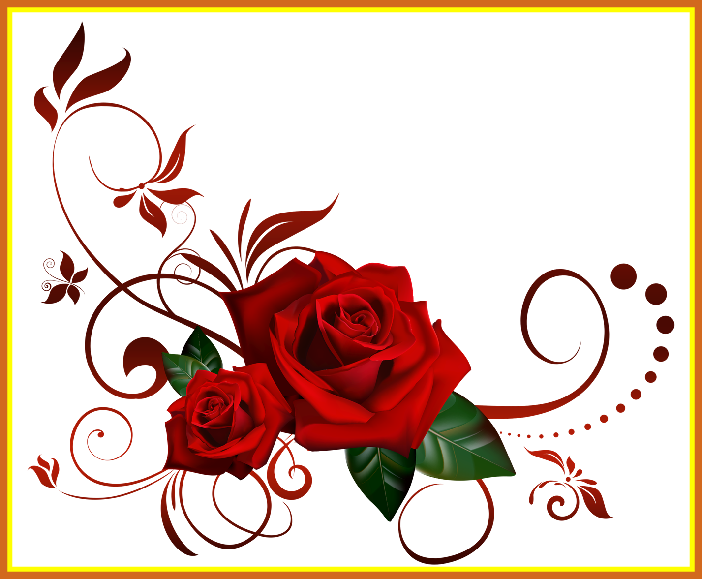 Fascinating pin by dany. Clipart rose boarder