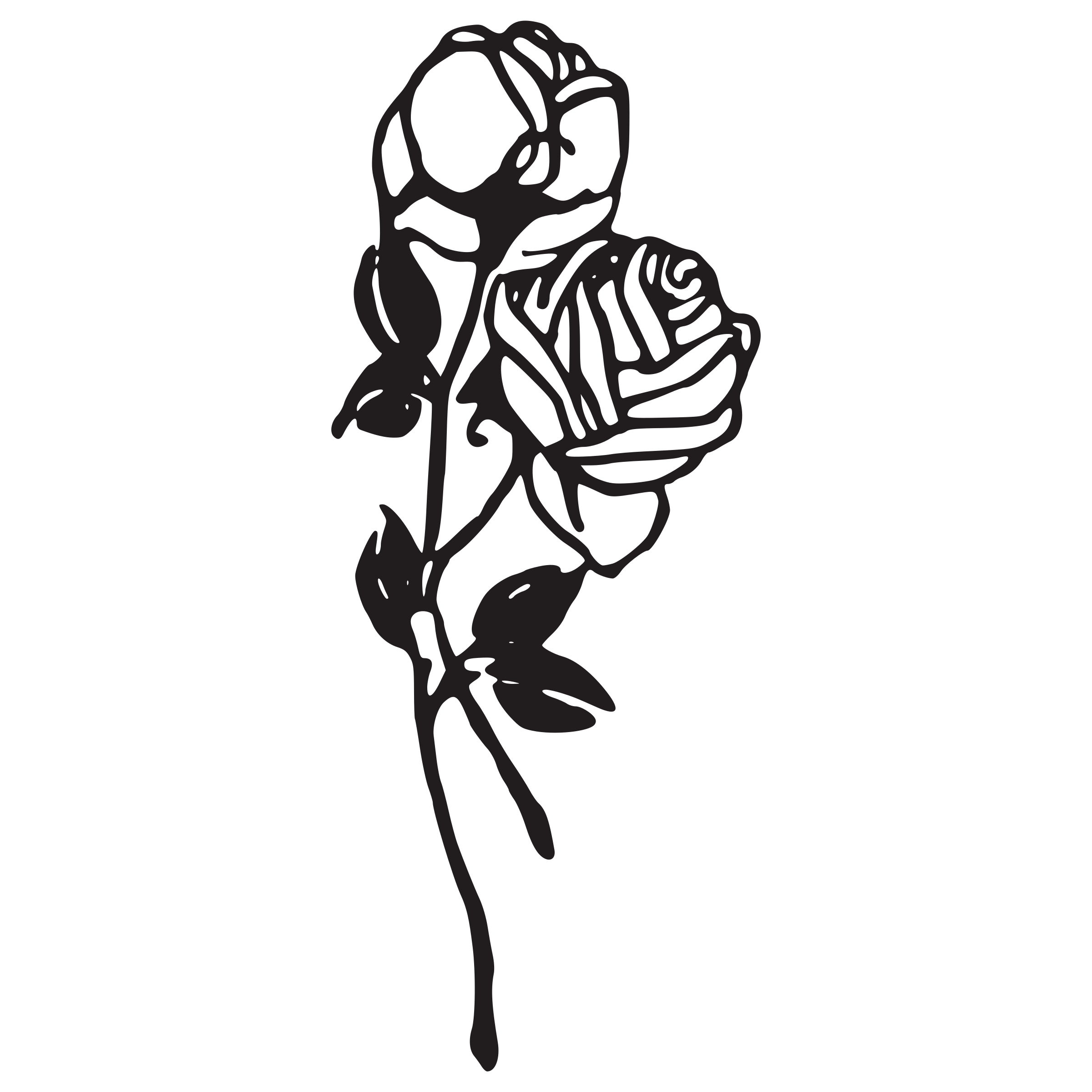 Clipart rose branch. Two roses big image