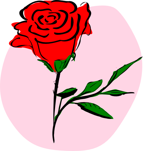 Clipart roses thorn. Rose drawing clip art