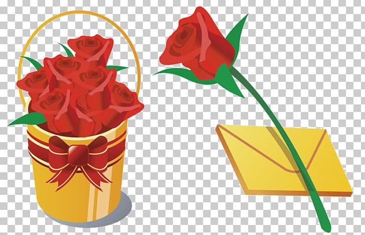 Flower bouquet rose png. Clipart roses bucket
