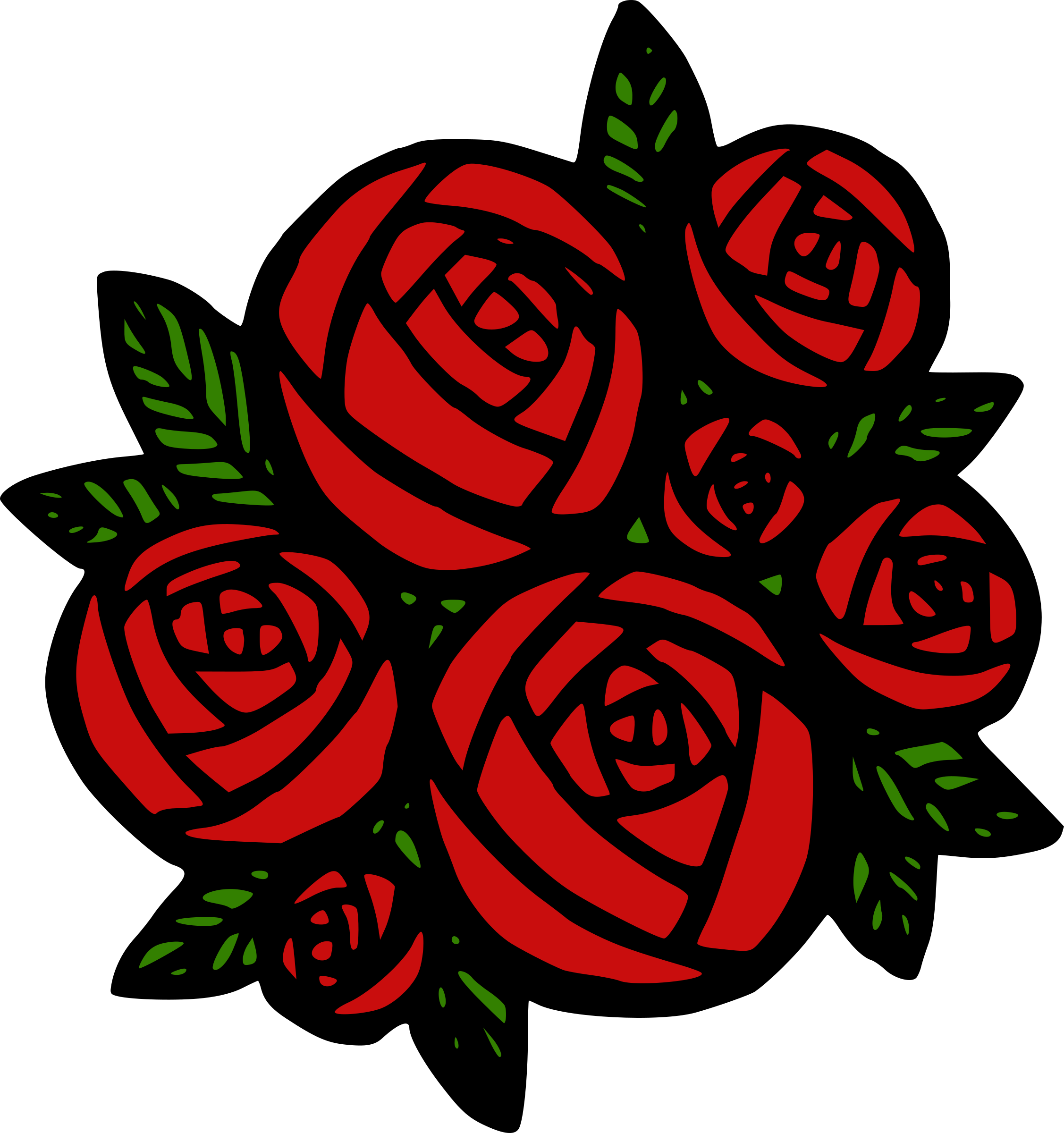 Rose clipart bunch. Of red roses icons