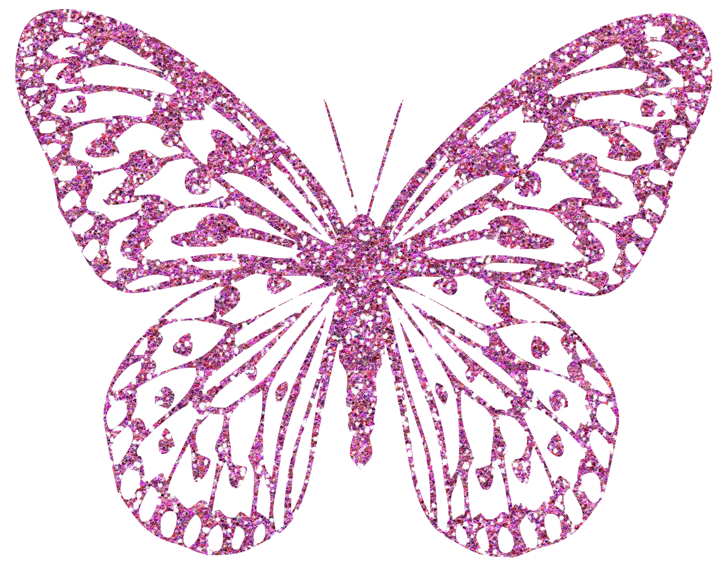 Pink decorative png image. Clipart rose butterfly