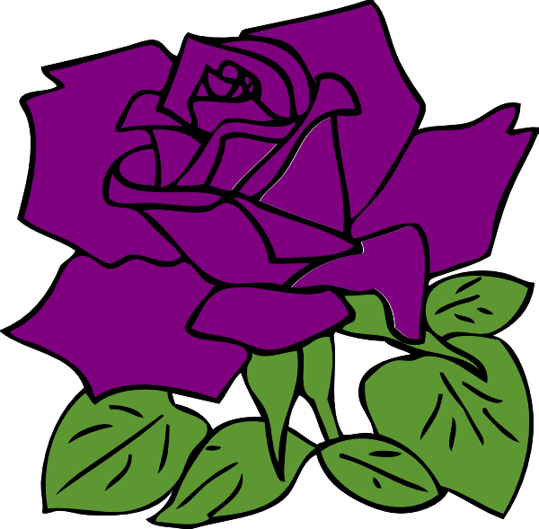 Rose clip art at. Clipart roses purple