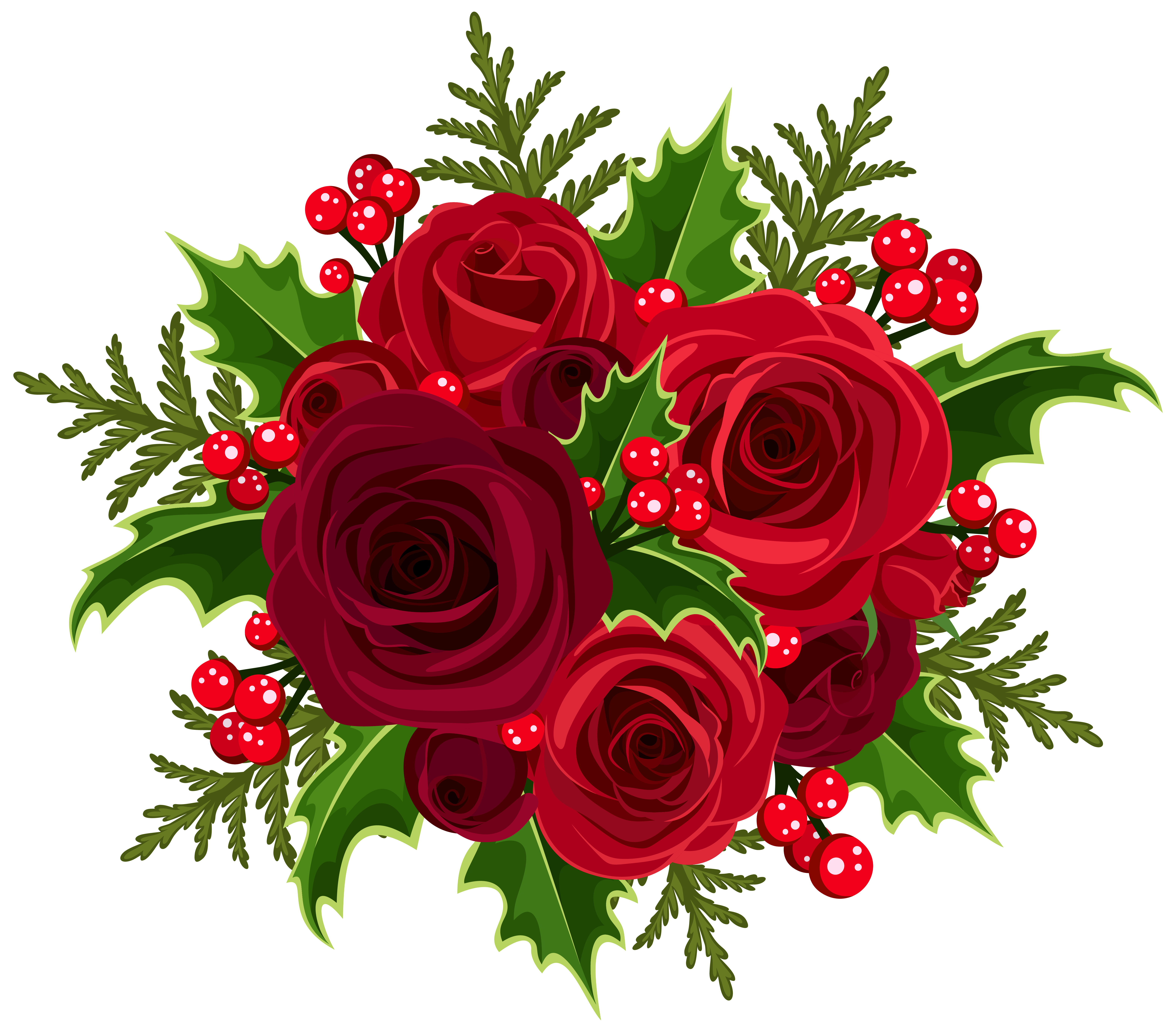Clipart rose christmas. Decoration png clip art