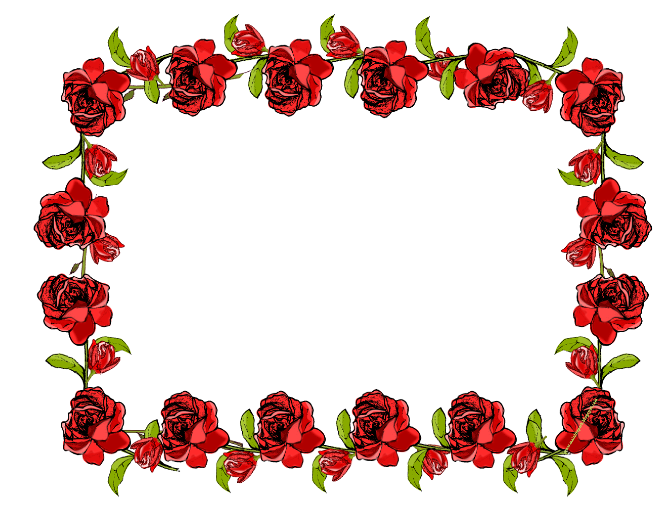 Free faux vintage frame. Clipart rose clear background
