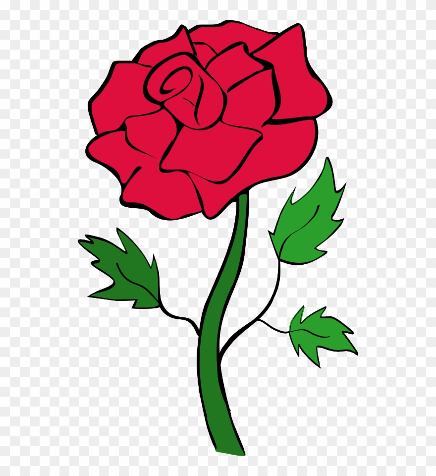 Clipart rose clip art. Red flowers black and