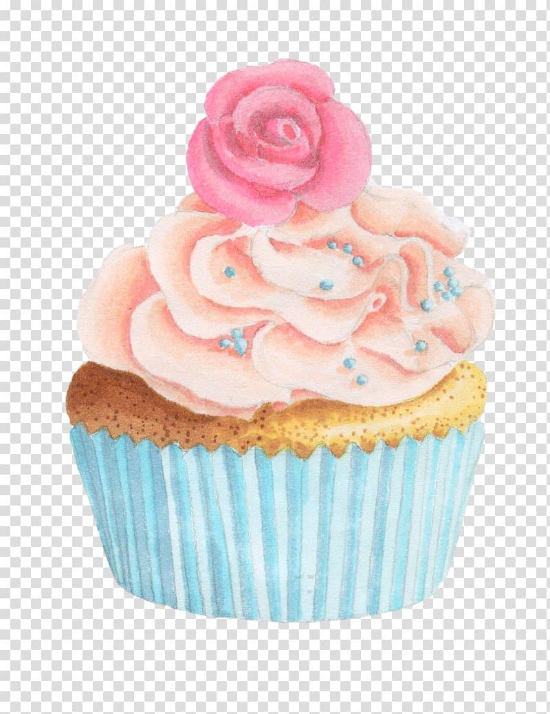 Cupcake cream muffin fruitcake. Muffins clipart flower