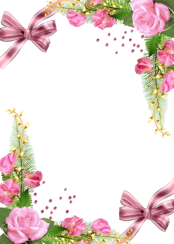 Clipart roses cute. Png photo frame with