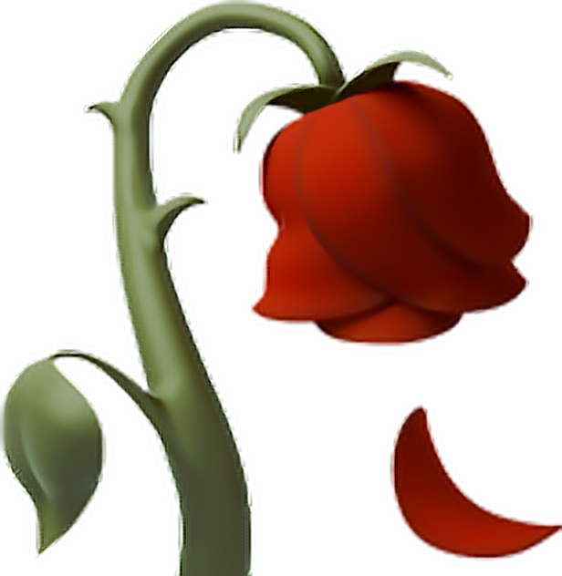 Deadrose flower emoji iphone. Clipart rose dead rose