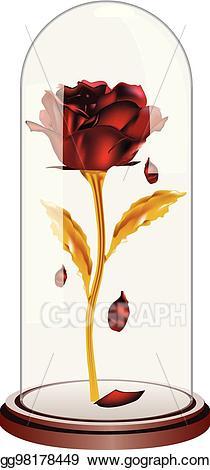Vector falling petals red. Clipart roses dome