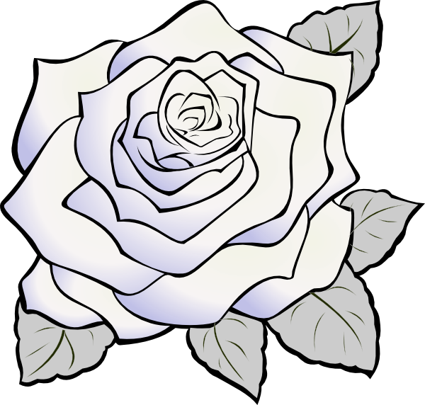 Clipart rose doodle. White plant pencil and