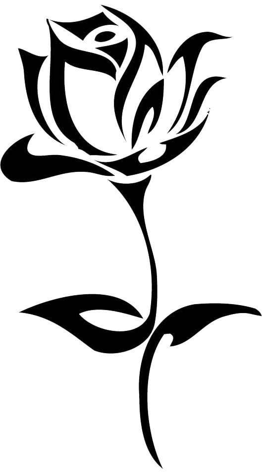 Clipart rose drawn. Tattoo black drawing clip