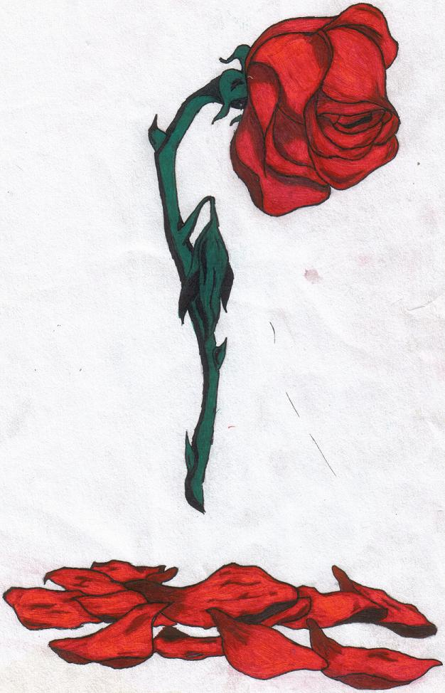 Rose . Clipart roses dying