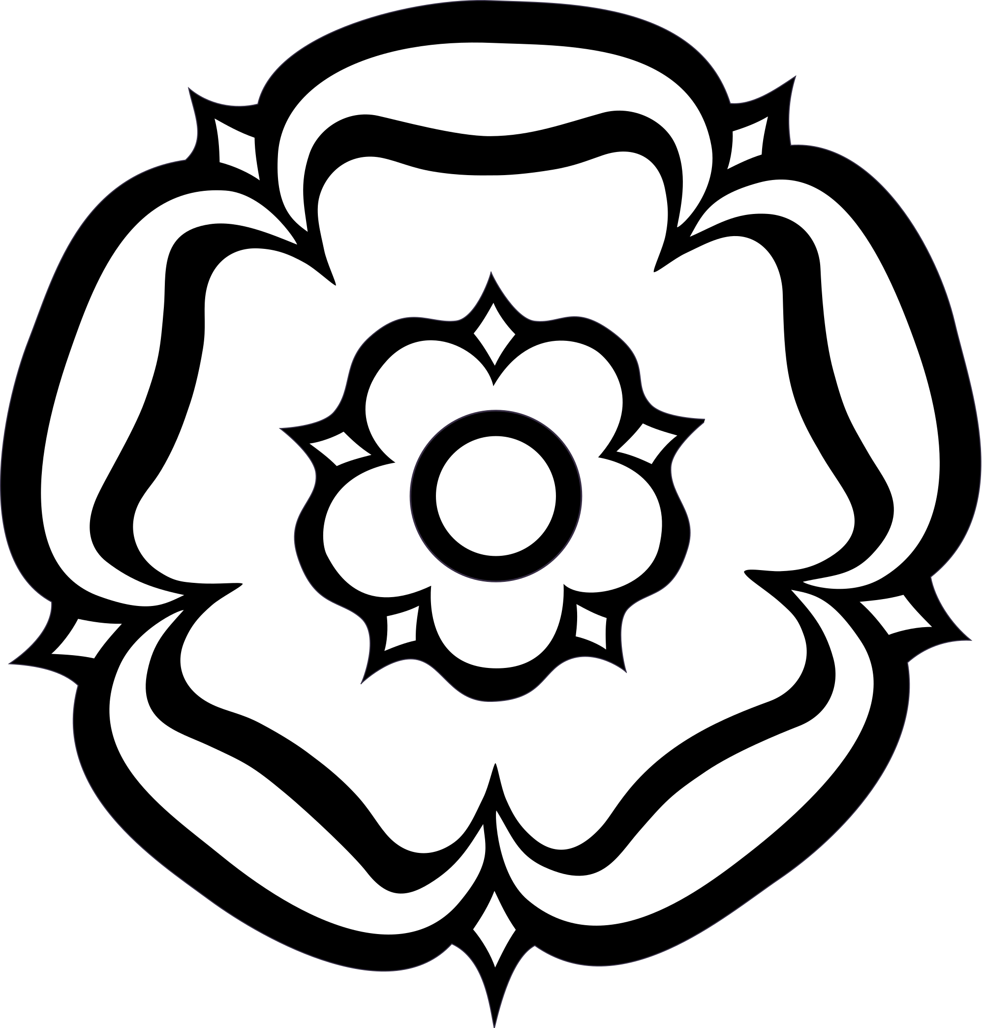 Clipart rose easy. Simple drawing at getdrawings