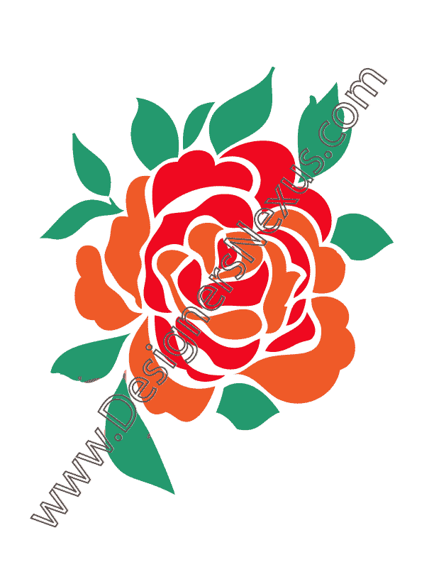 Graphics of roses group. Clipart rose embroidery