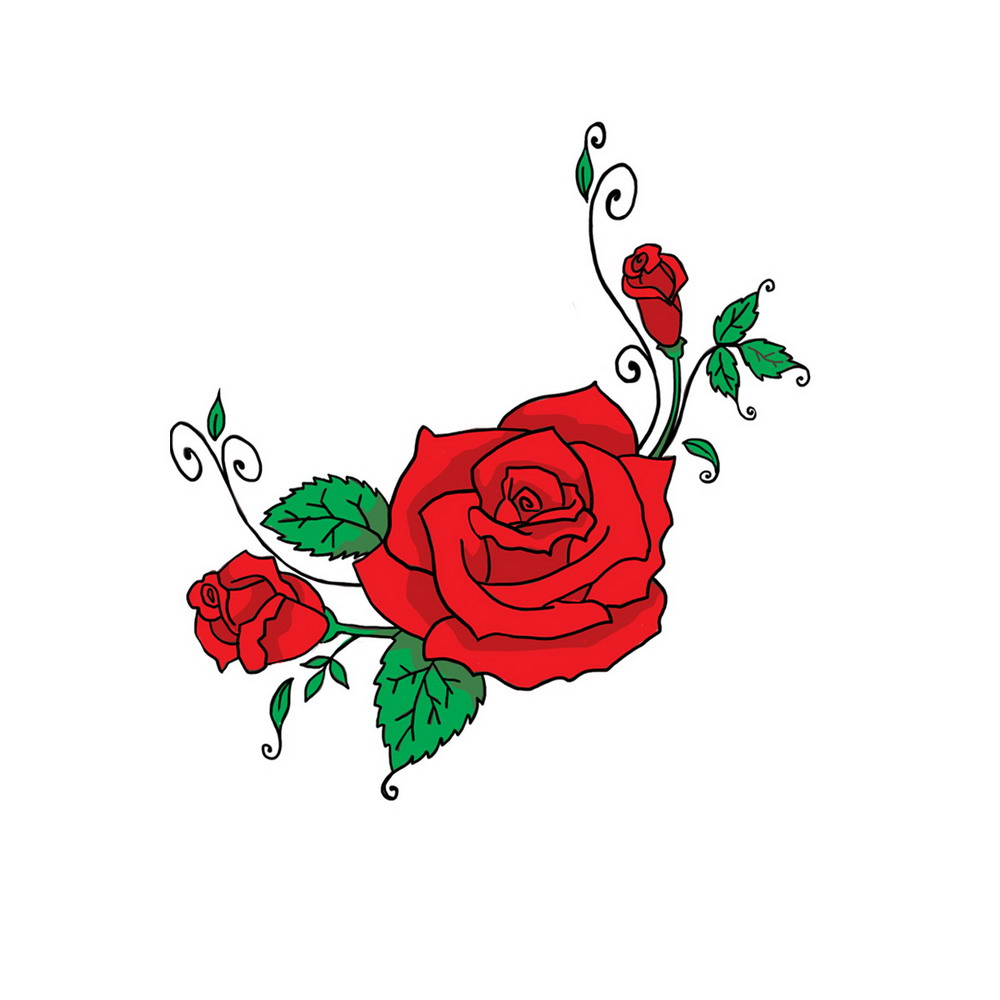 Roses for assorted high. Clipart rose embroidery
