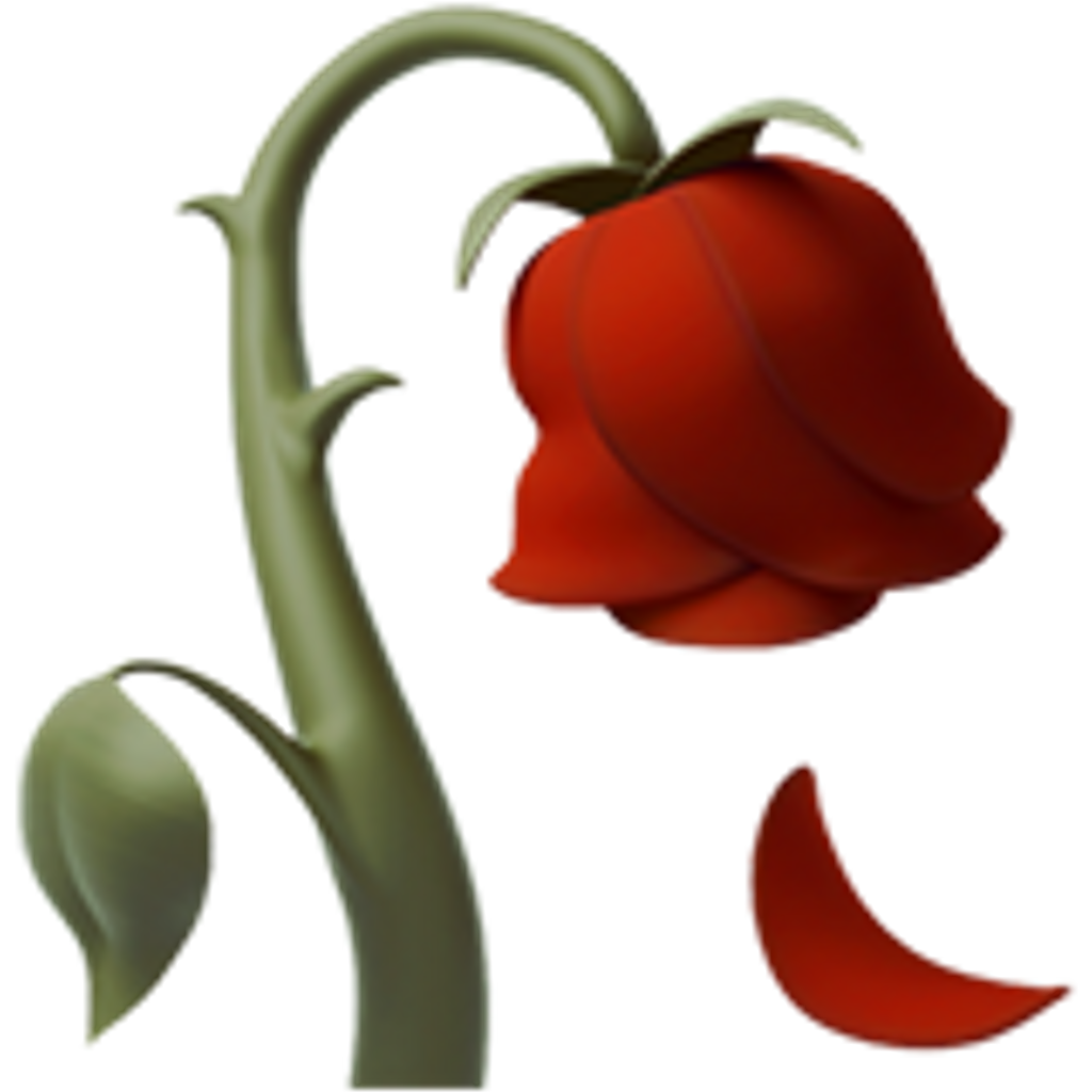 Sticker by samantha tamayo. Clipart rose emoji