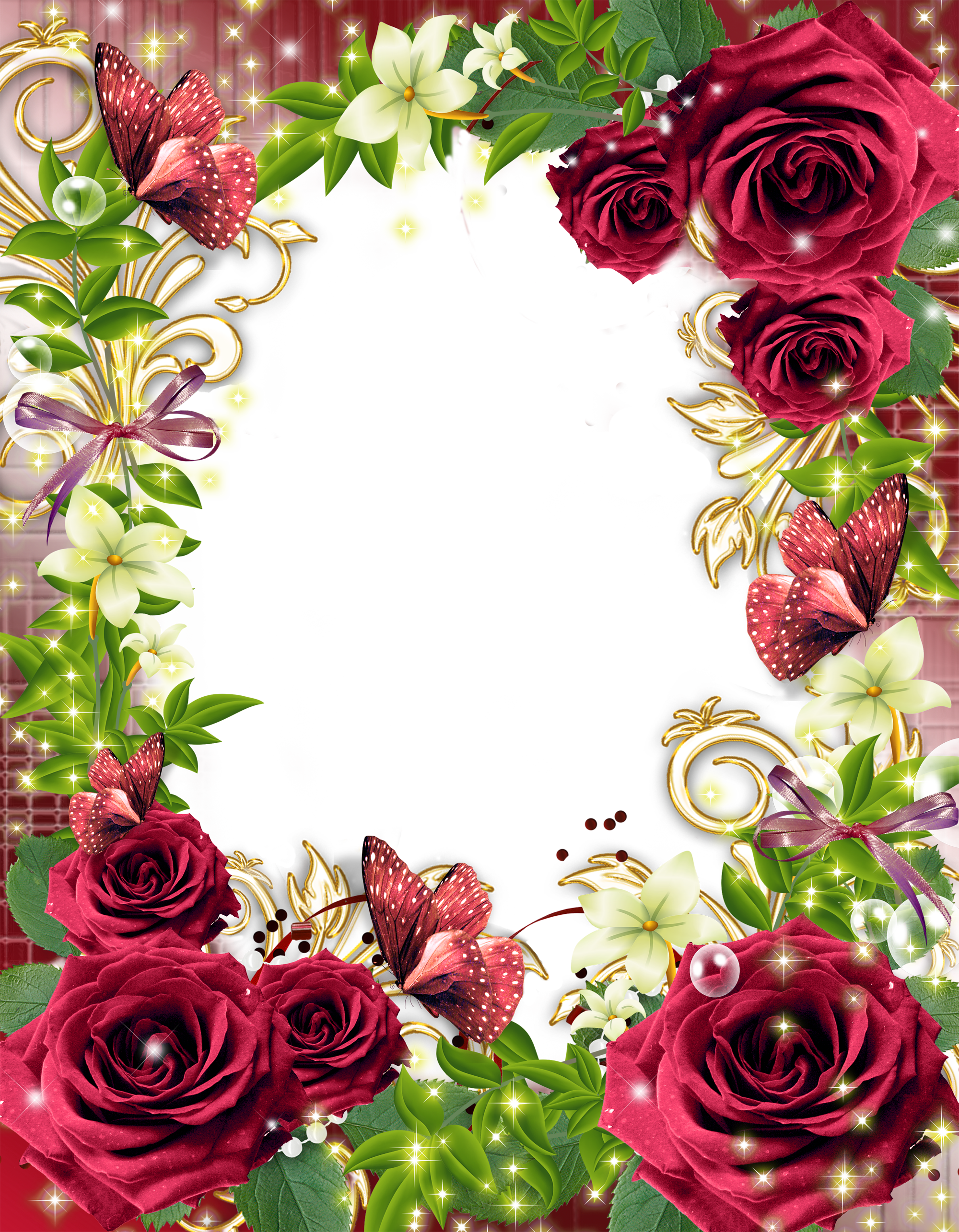 Transparent png photo frame. Clipart roses face