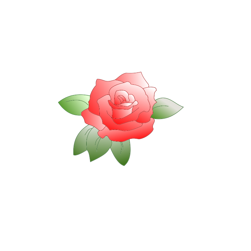 Clipart rose face. Small
