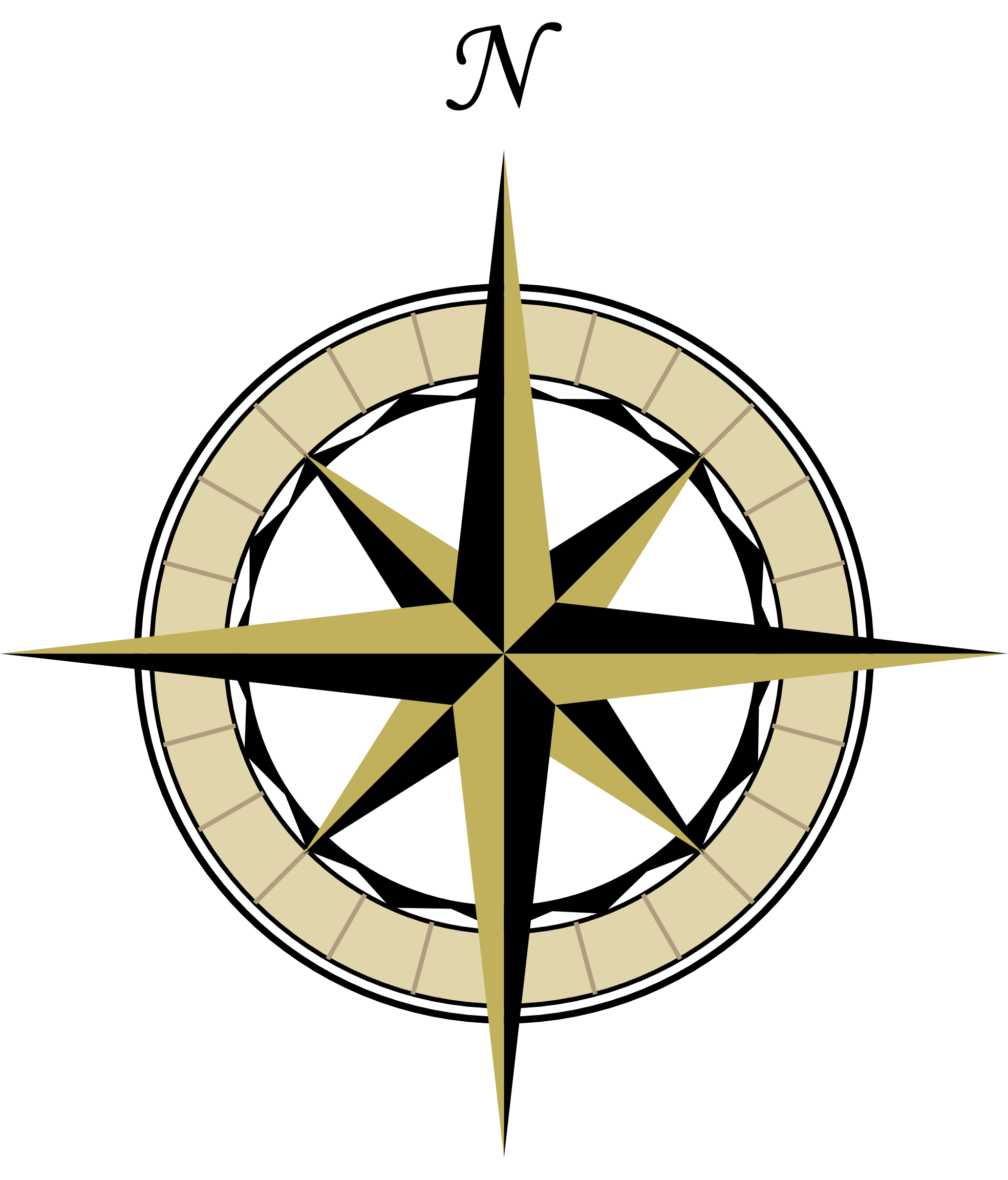 steampunk clipart old compass