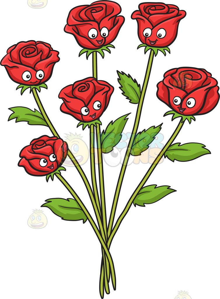 Cartoon roses pictures free. Clipart rose face
