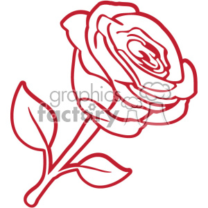 Red svg cut royalty. Clipart rose file