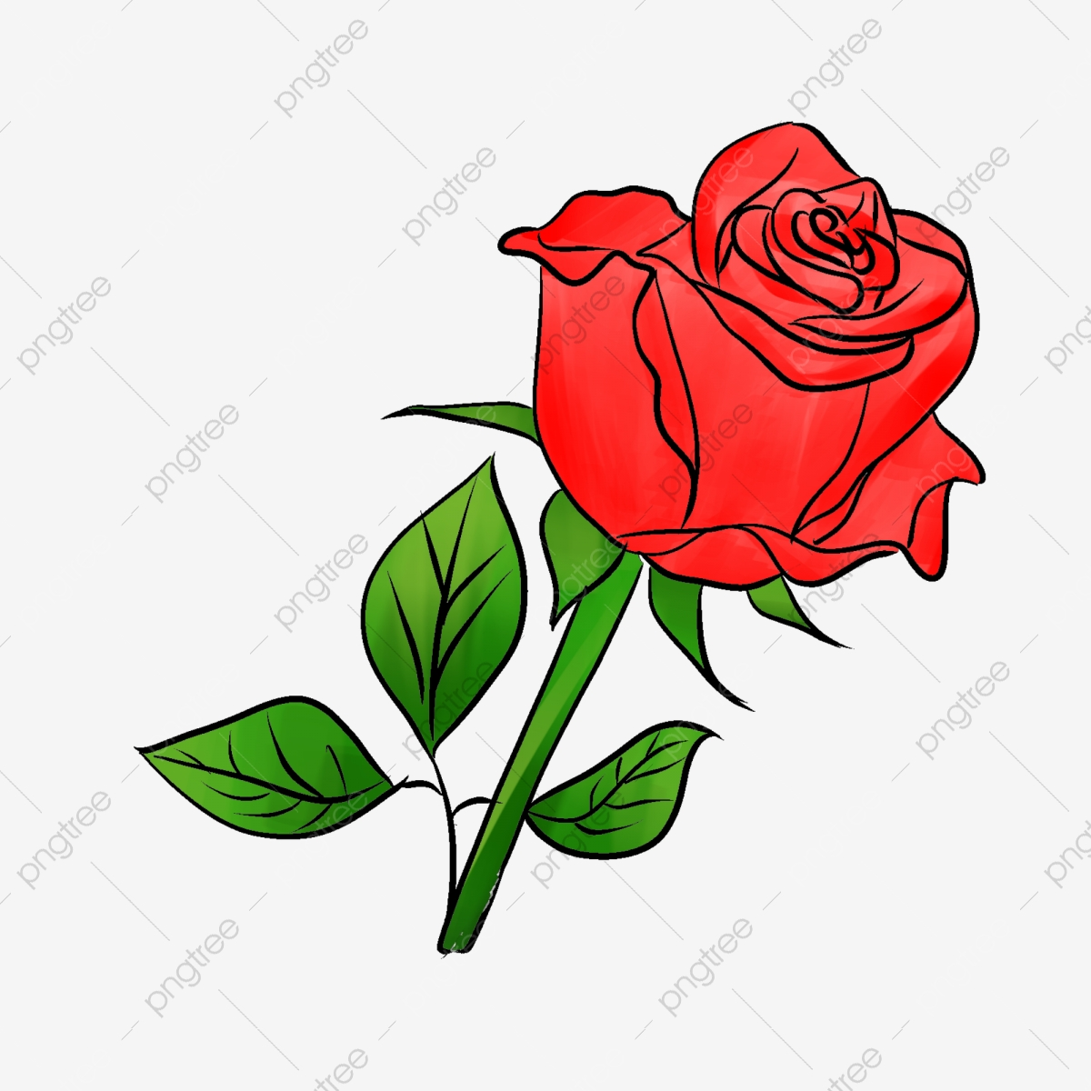Clipart roses basic. Rose red simple flowers