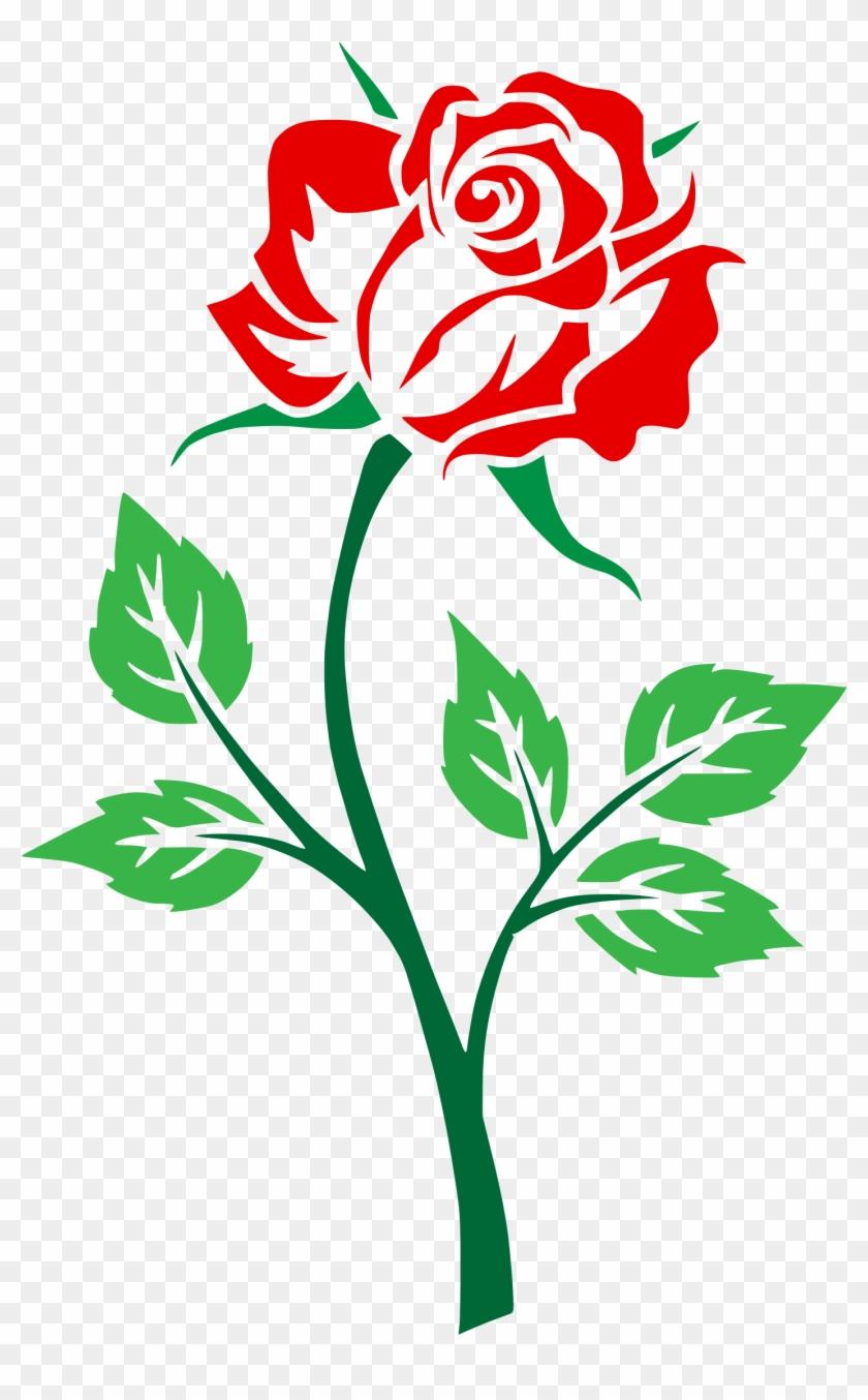 Clipart rose file. Flower clip art free