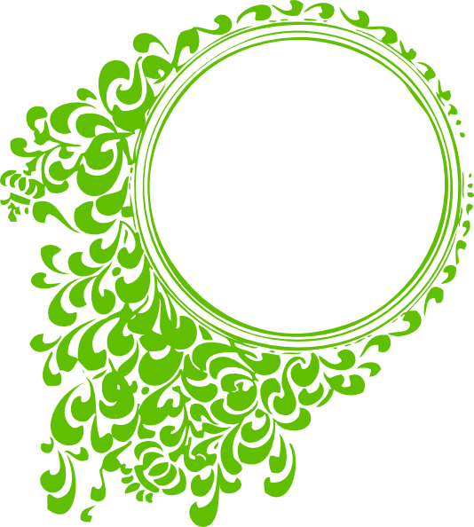 Clipart rose filigree. Kiwi frame clip art