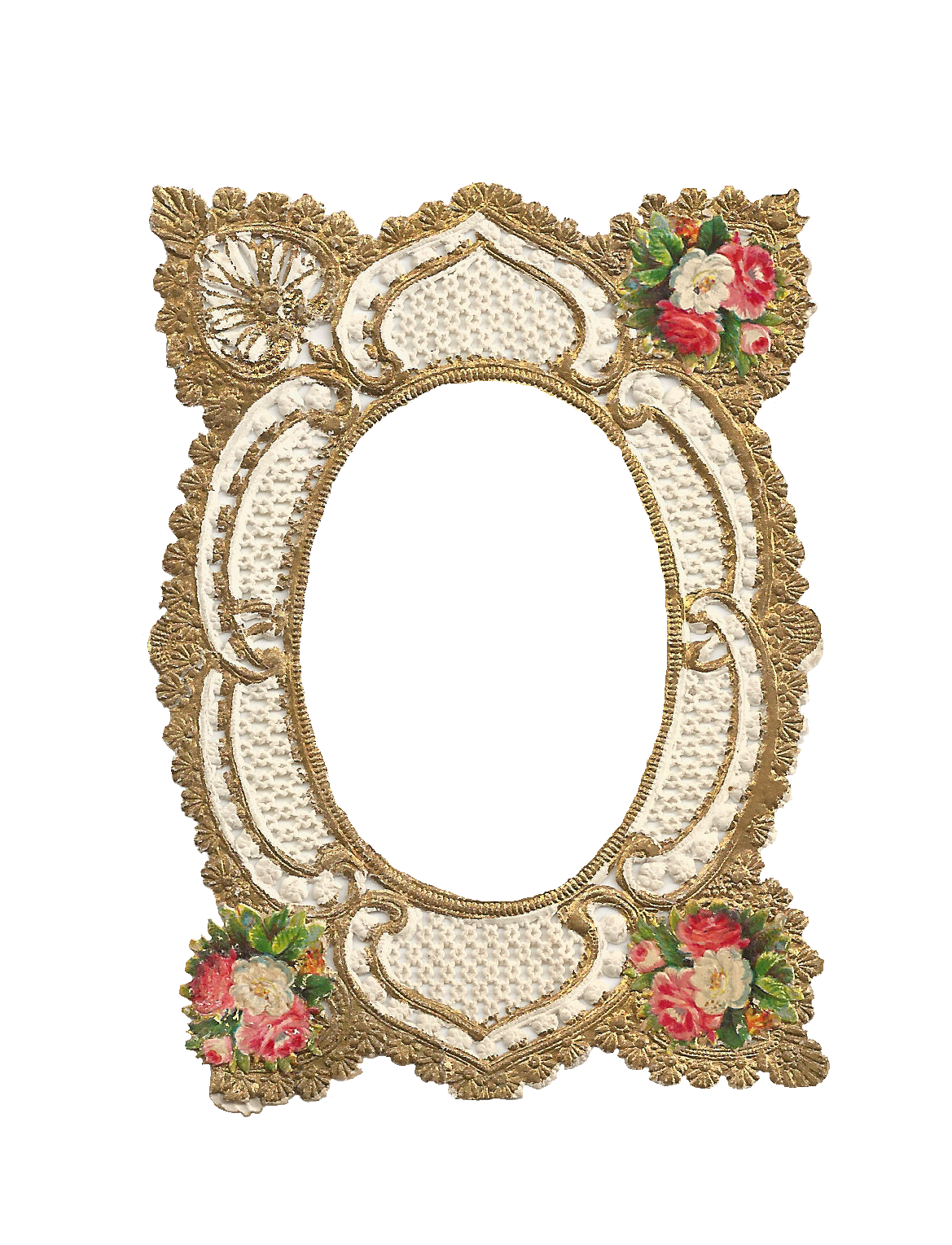 Free vintage frame with. Rose clipart filigree