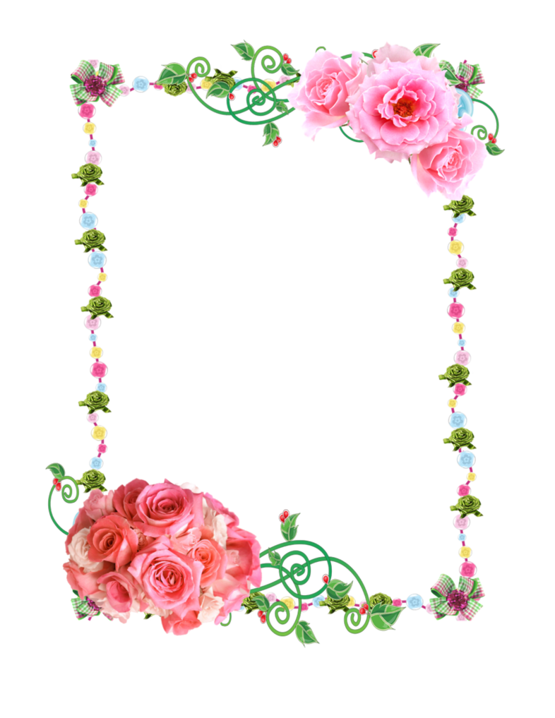 Png with roses by. Clipart rose frame