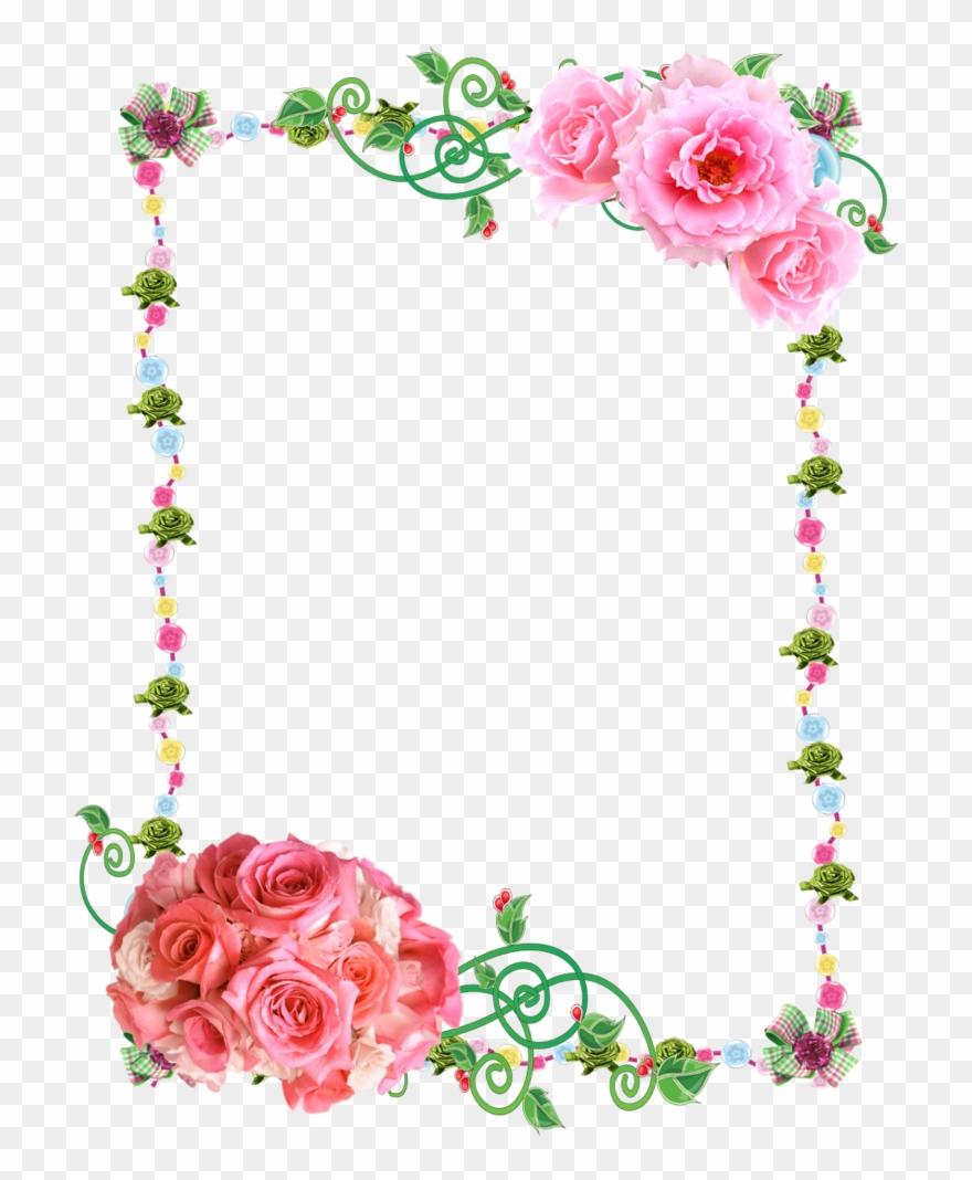 Rose png download . Clipart roses frame