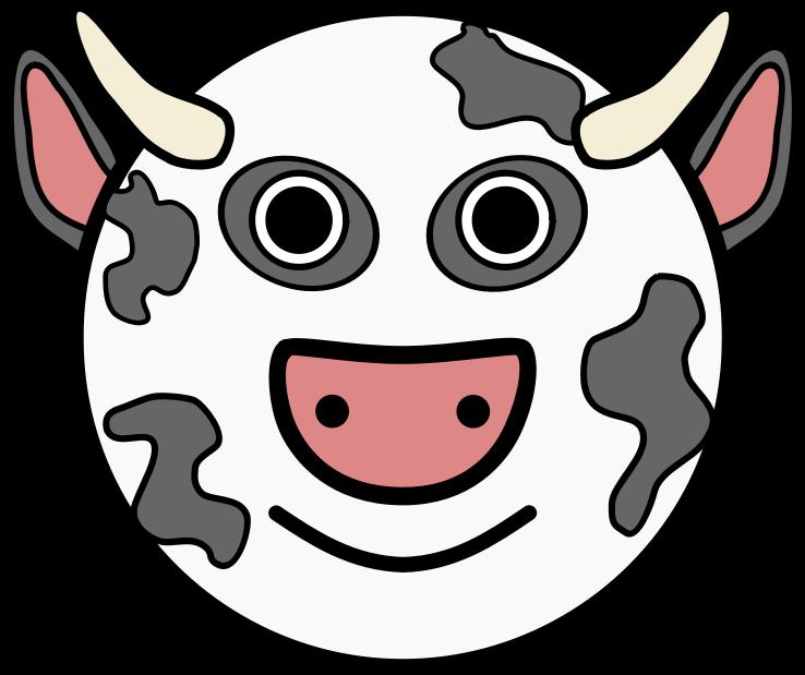 Download cow clip art. Clipart rose head